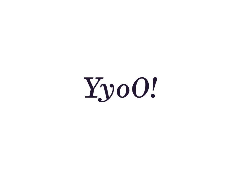 Yyoo! italic text serif yyoo