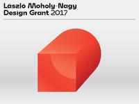 László Moholy-Nagy Design Grant branding and custom typeface
