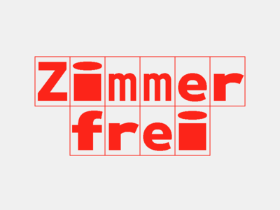 Zimmerfrei Mono homemade streched streching sans serif sans monospace mono