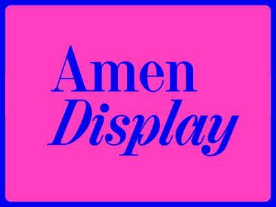 Amen Display amen amendisplay serif typeface