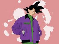 Goku branding aesthetic art typography animation design adobe illustration vector illustrator
