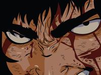 Black Swordsman adobe animation aesthetic design adobe illustrator anime sketch berserk animeart illustrator art illustration vector