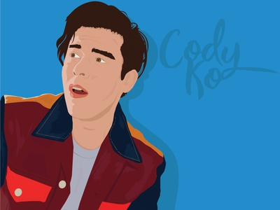 Cody Ko tmg codyko youtube animeart aesthetic art typography animation design adobe illustration illustrator vector