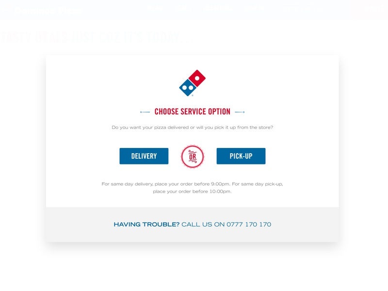 Fast food options: delivery or pick-up? exactor food app dominos ordering food