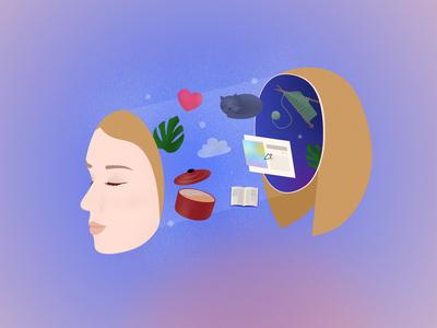 In My Head doodle ipad pro design illustration affinity designer