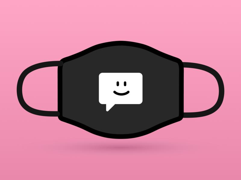 Smiling message illustration icon
