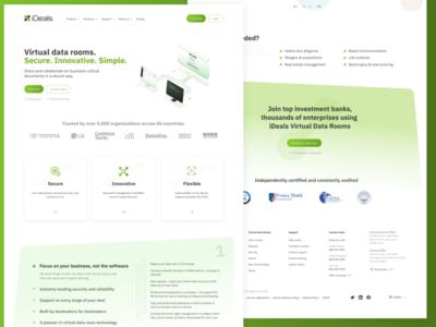 iDeals redesign concept uiux ui green gradient corporate landing