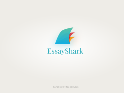 EssayShark paper colorful fin logo design logotype mark clean brand design app icon gradient vector branding design logo