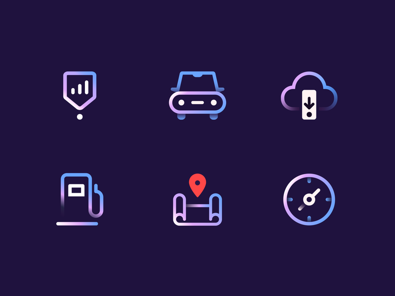 Fuelio icons automotive iconset icon set icons chart gas station download neon colors neon light neon compass pin map gas fuel cloud car app icons