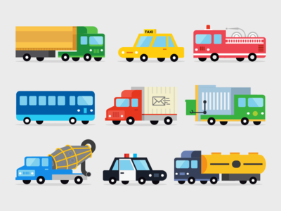 Industries Vehicle fire truck police cars transport bus construction municipal emergency delivery long haul taxi