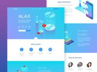 Alax - Landing page