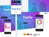 Fuelio App - Landing Page