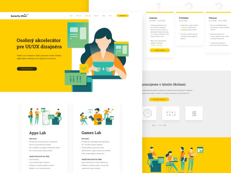 Butterfly Effect - Homepage accelerator teachers mentors app lab mentorship