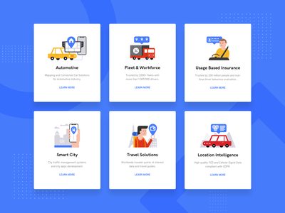 Web Ui & illustrations web deisgn ui enterprise travel solutions smart city insurance workforce fleet automotive
