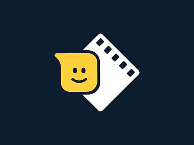 FILMZIE - Logotype streaming filmzie brand identity branding movie strip bubble logotype logo community chat studios filmmakers cinema movie