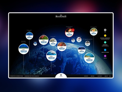Blancpain Ocean Commitment 3d animation 3d homepagedesign homepage home interface ui experiment ux