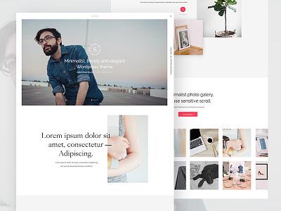 Minimal portfolio homepage web typography slider photography minimal layout grid