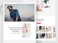 Minimal portfolio homepage