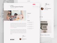 Minimal blog post page
