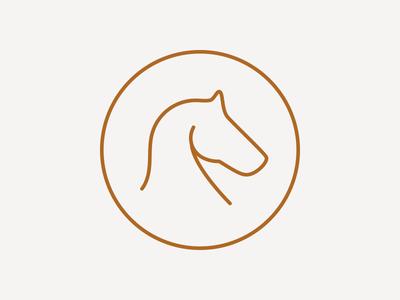São Lourenço do Barrocal barrocal badge vector animal minimal roundel icon horse