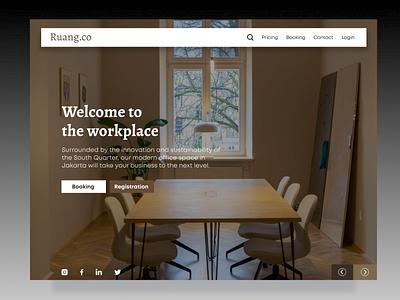 Co-working Space Landing Page landingpage web design ux ui