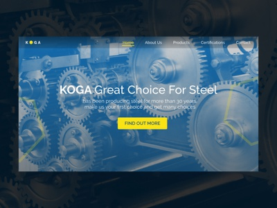 Koga Steel Constructio landingpage steel app design illustration web ux ui
