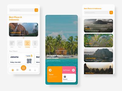 Travel App graphic design minimalist jogja indonesia travel travel app vector branding icon logo illustration web design app ux ui