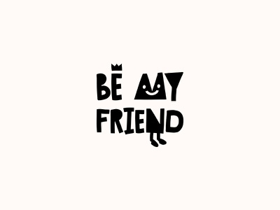 BE MY FRIEND. Logo Design children kid kiddo child kids friend social conference event logo design logotype logo be my friend
