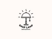 Snap Lamp Restaurant. Logo Design