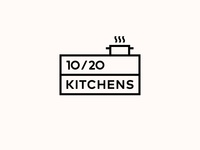 10/20 KITCHENS. Logo Design