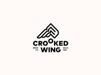 CROOKED WING. Logo Design