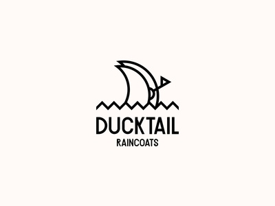 DUCKTAIL RAINCOATS. Logo Design