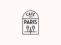 CAFÉ DE PARIS. Logo Design