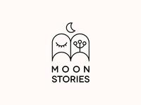 Moon Stories. Logo Design