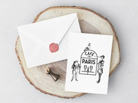 CAFÉ DE PARIS. Logo Design