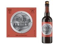 Raudonu plytu✖️MOMO Grill. Beer Label Design