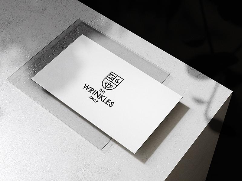 The Wrinkles Shop. Logo Design flax night lithuania lietuva vilnius coat of arms sleep bedding linen logotype logo