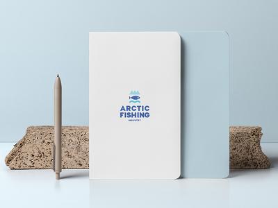 Arctic Fishing Industry. Logo Design brand industry cold arctic fish fishing symbol logotype logo design logo