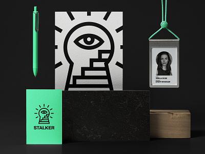 STALKER. Logo & Branding brand music stairs eye logo design logotype logo minimal branding stalker