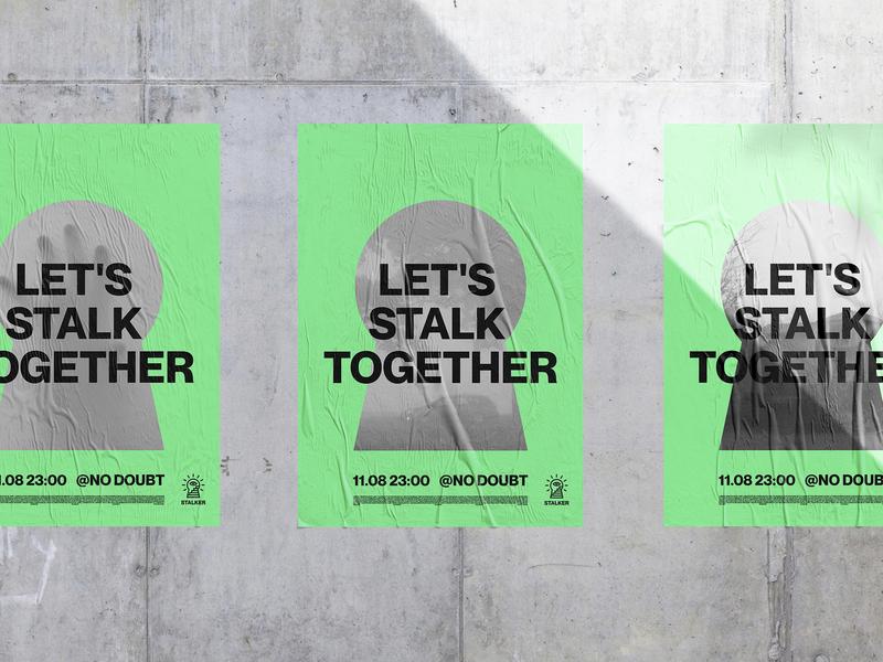 STALKER. Logo & Branding poster stalker music stalk linear black minimal mark symbol brand logo design logotype logo