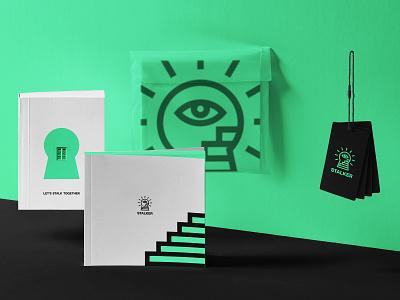 STALKER. Logo & Branding stairs eye stalk stalker branding design black minimal mark symbol brand logo design logotype logo