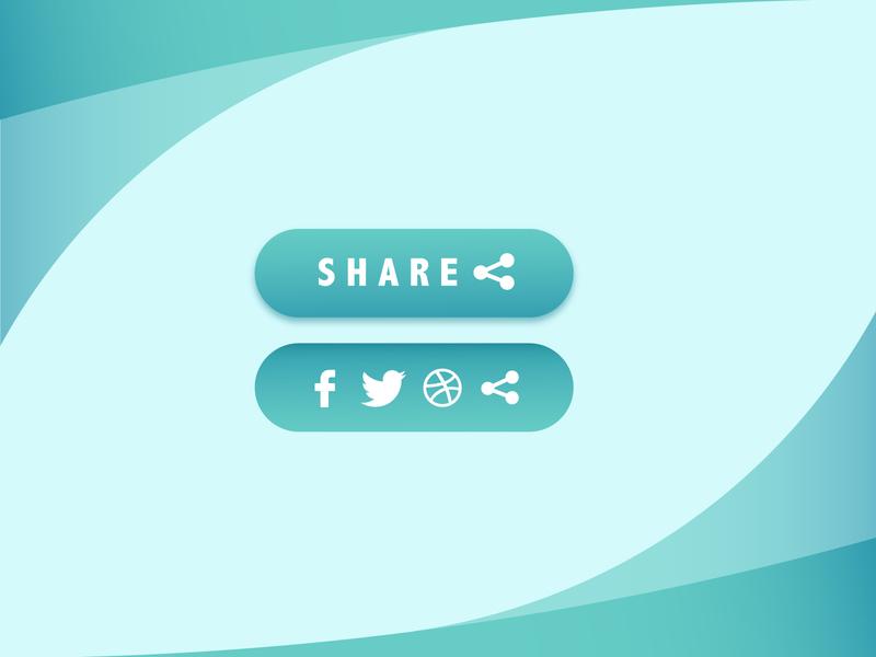 Daily UI 010 Social Share share button share socialshare button design button user interface design user interface ux vector ui illustration dailyuichallenge dailyui illustrator design