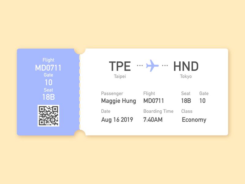 Daily UI 024 Boarding Pass plane ticket boardingpass user interface design user experience ux user interface vector ui illustration dailyuichallenge dailyui illustrator design
