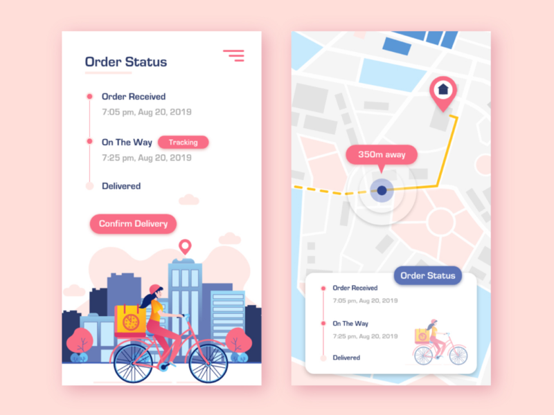 Daily UI 029 Map map design map delivery service delivery app delivery adobe xd user experience ux user interface vector ui illustration dailyuichallenge dailyui illustrator design