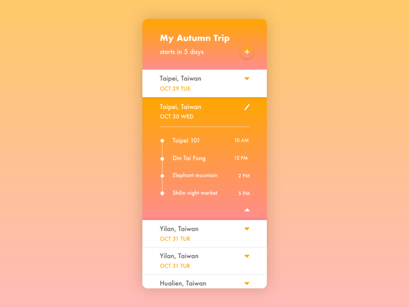 Daily UI 079 Itinerary application app design app trip planner trip itinerary adobe xd adobexd adobe user experience ux user interface vector ui illustration dailyuichallenge dailyui illustrator design