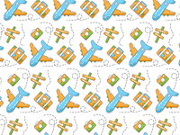 Travel pattern color icon design icon set icons icon trip plane travel pattern design pattern a day pattern art patterns pattern adobe illustrator adobe logo vector illustrator illustration design
