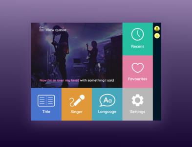 Daily UI 25 TV App karaoke tv app tv app design ui dailyui daily