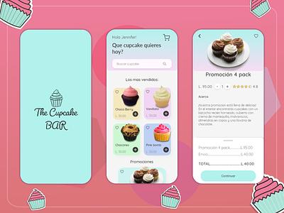 My firs shot. Cupcake Bar Concept App spanish food app app ux ui illustration design