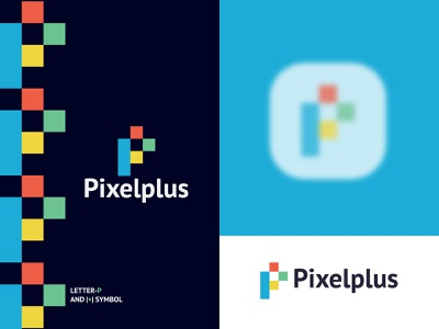 Pixelplus logo | Letter P with +symbol pixel logo plus symbol p and plus p logo p letter logo logo idea abstract logo app icon colorful logo modern logo branding logodesign lo brand identity logo graphic design