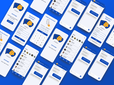 MySenger. Connecting the world with free text translation white blue ios app design android app design ios app android app chatting message app messenger message uidesign design ux ui mobile design mobile app mobile ui mobile app design translator chat app
